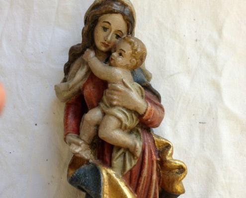 Maria mit Kind - Oben - Nach der Restaurierung