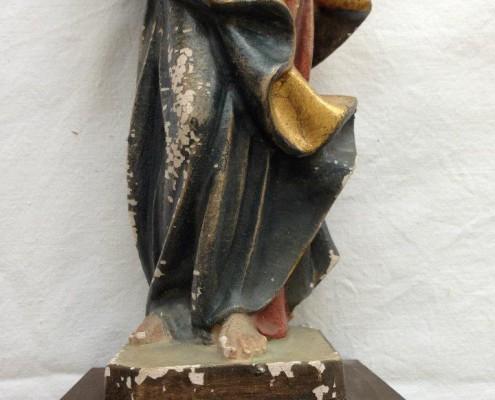 Maria mit Kind - Unten - Vor der Restaurierung